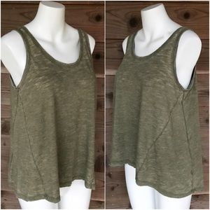Universal Threads Scoop Neck Pleated Back Tank Sm